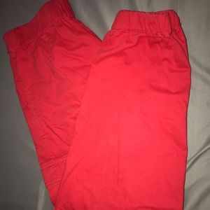 red forever 21 cargo pants